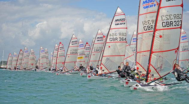 ACO Musto Skiff worlds at Weymouth day 1
