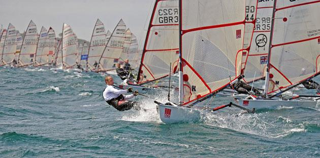 ACO Musto Skiff worlds at Weymouth day 4