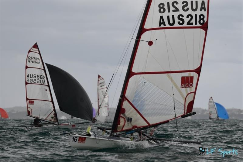 ACO Musto Skiff World Championship - Day 5 photo copyright LF Sports taken at Blairgowrie Yacht Squadron and featuring the Musto Skiff class