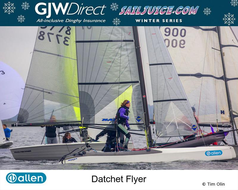 Nacra 15 during the GJW Direct SailJuice Winter Series Datchet Flyer - photo © Tim Olin / www.olinphoto.co.uk