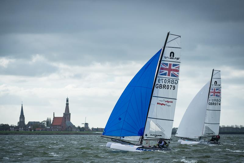 All set for the Nacra 15 Youth Olympic Qualifying event in Medemblik - photo © Laurens Morel / www.saltycolours.com