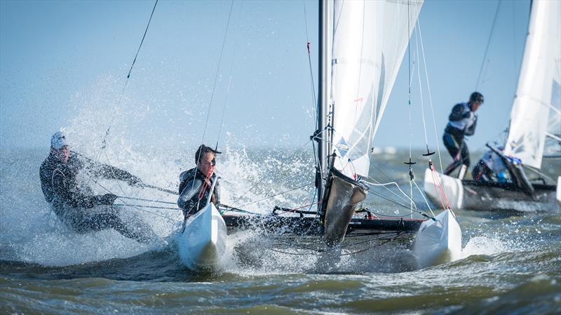 Nacra 15 Youth Olympic Qualifier at Medemblik 2017 - photo © Laurens Morel / www.saltycolours.com