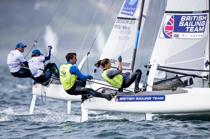 Saxton & Groves at Sailing World Cup Weymouth and Portland - photo © Pedro Martinez / Sailing Energy / World Sailing