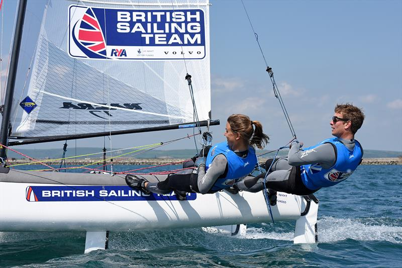 Ben Saxton and Nicola Groves - photo © Rick Tomlinson / British Sailing Team
