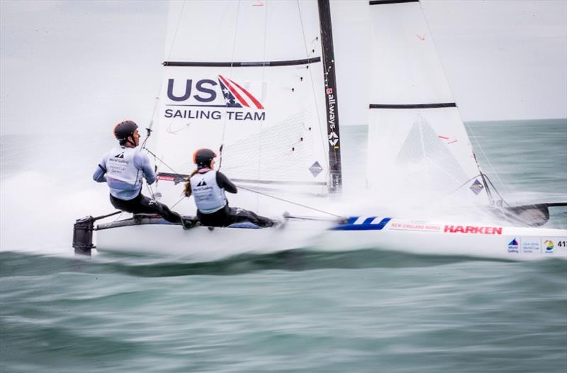 Day 3 – Bora Gulari (Detroit, Mich.) and Helena Scutt (Kirkland, Wash.) – World Cup Series Miami - photo © Jesus Renedo / Sailing Energy / World Sailing
