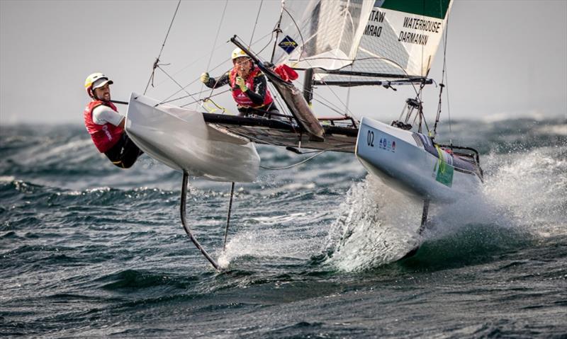 Jason Waterhouse and Lisa Darmanin - Hempel World Cup Series Enoshima, day 3 - photo © Jesus Renedo / Sailing Energy / World Sailing