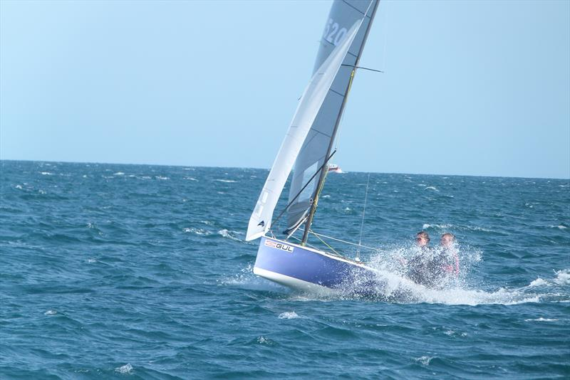 George Smith and Alice Crick during the Gul National 12 Championship at Weymouth - photo © Frances Copsey