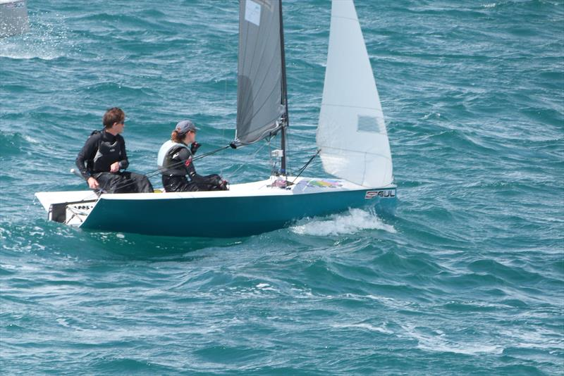 Graham and Zoe during the Gul National 12 Championship at Weymouth - photo © Frances Copsey