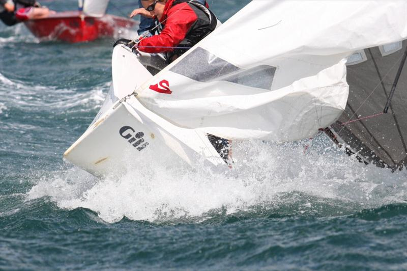 Big winds at Henri Lloyd Salcombe Regatta photo copyright John Murrell taken at Salcombe Yacht Club and featuring the National 12 class