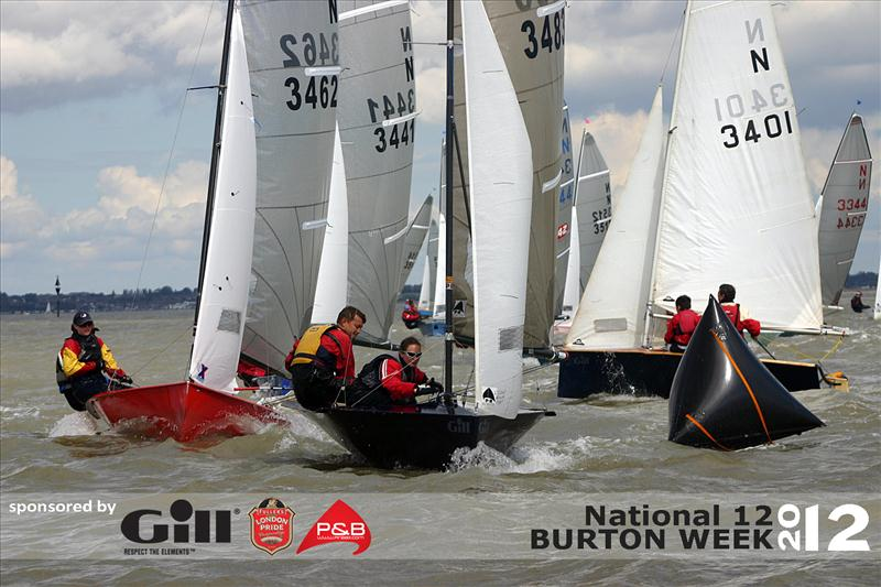 Join in the fun with N12 Burton Week 2012 photo copyright J Carey taken at Hayling Island Sailing Club and featuring the National 12 class