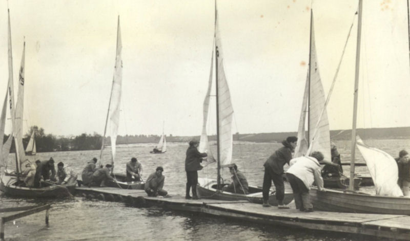 National 12's racing at Frensham Pond Sailing Club in 1953 - photo © FPSC