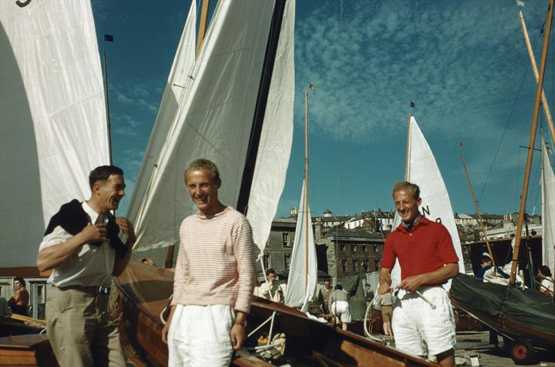 Stuart & Adrian Jardine with their National 12 in Falmouth around 1951 - photo © Archive