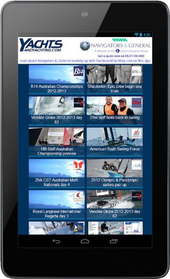 YachtsandYachting.com and Navigators & General team up to bring you the latest sailing news on your smartphone or tablet