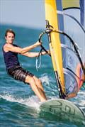 Louis Giard on day 2 of the ISAF Sailing World Cup Final in Abu Dhabi - photo © Pedro Martinez / Sailing Energy / ISAF