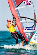 Bryony Shaw on day 2 of the ISAF Sailing World Cup Final in Abu Dhabi - photo © Pedro Martinez / Sailing Energy / ISAF