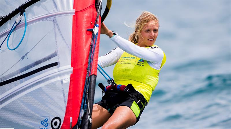 Gold for Great Britain's Emma Wilson on day 4 of the Aon Youth Worlds in Auckland - photo © Pedro Martinez / Sailing Energy / World Sailing