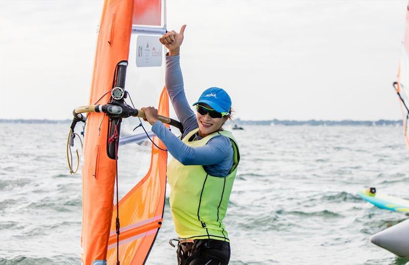 Yunxiu Lu (CHN) win the Women's RS:X class at World Cup Series Miami - photo © Pedro Martinez / Sailing Energy / World Sailing