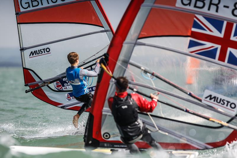 RS:X racing on day 3 of the RYA Youth Nationals - photo © Paul Wyeth / RYA