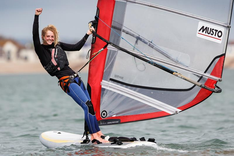 Girls RS:X Gold for Erin Watson at the RYA Youth Nationals - photo © Paul Wyeth / RYA