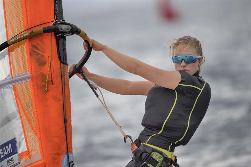 Izzy Hamilton on day 3 of World Cup Hyères - photo © Richard Langdon / British Sailing Team