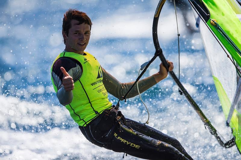 Louis Giard wins the Men's RS:X class at World Cup Hyères - photo © Pedro Martinez / Sailing Energy / World Sailing