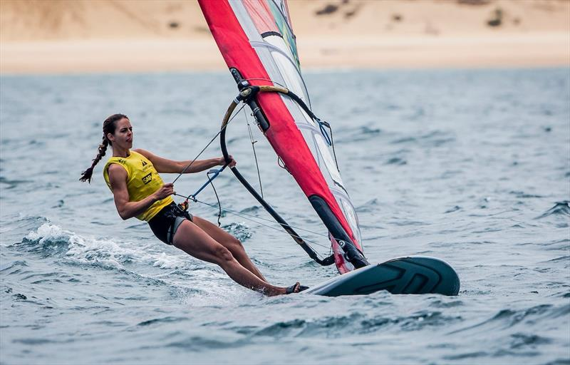 Patricia Freitas of Brazil windsurfing on day 4 of the World Cup Series Final in Santander - photo © Jesus Renedo / Sailing Energy / World Sailing