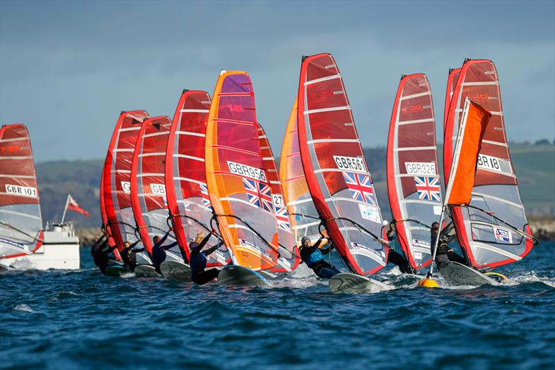 RS:X fleet during the 2017 RYA Olympic Classes National Ranking series finale - photo © Paul Wyeth / RYA