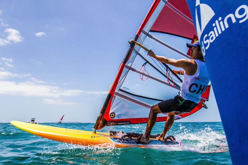 Chen Hao (CHN) - RS:X Boys - photo © Georgia Schofield / Sailing Energy / World Sailing