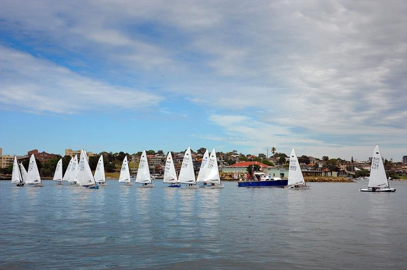 OK Dinghies commence Bill Tyler sail past photo copyright Bruce Kerridge taken at Drummoyne Sailing Club and featuring the OK class