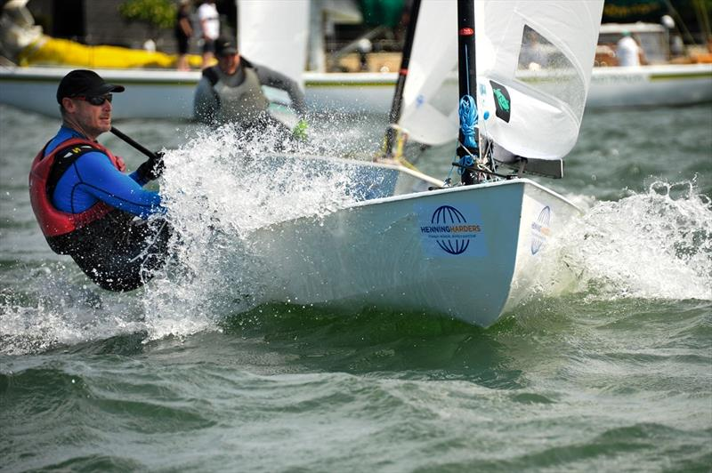 Tim Davies still leads overall after day 3 at the Australian OK Nationals - photo © Bruce Kerridge