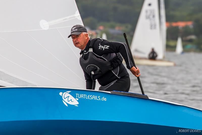 Greg Wilcox on day 2 of the OK Dinghy European Championship - photo © Robert Deaves