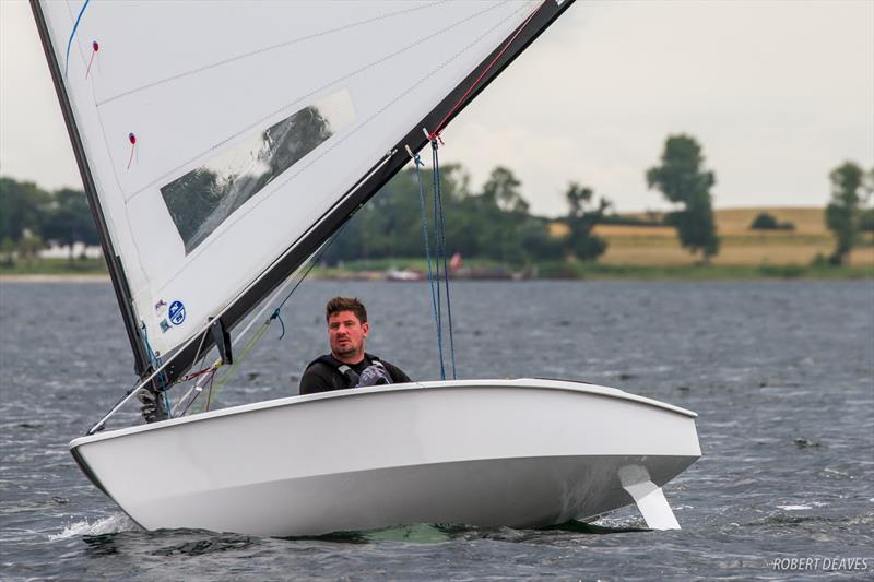 Luke Gower on day 2 of the OK Dinghy European Championship - photo © Robert Deaves