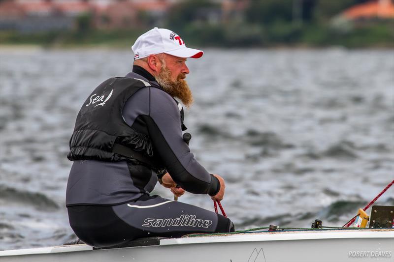 Jesper Strandberg on day 3 of the OK Dinghy European Championship - photo © Robert Deaves