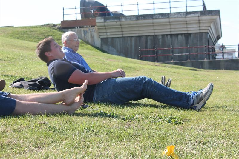 The sit-up king on the right during the OK Nationals at Herne Bay - photo © Mary Reddyhoff