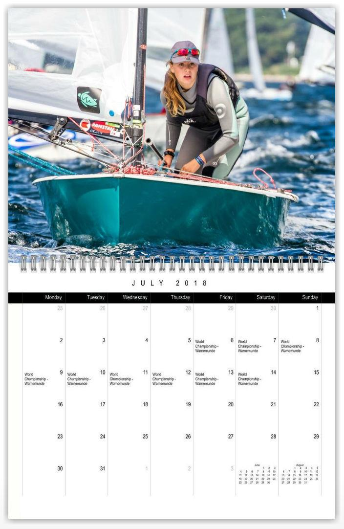 2018 OK Dinghy Calendar photo copyright Robert Deaves taken at  and featuring the OK class