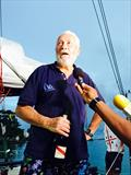 Sir Robin Knox-Johnston finishes 3rd in the Rhum class in the Route du Rhum-Destination Guadeloupe - photo © Matthieu Sarrot