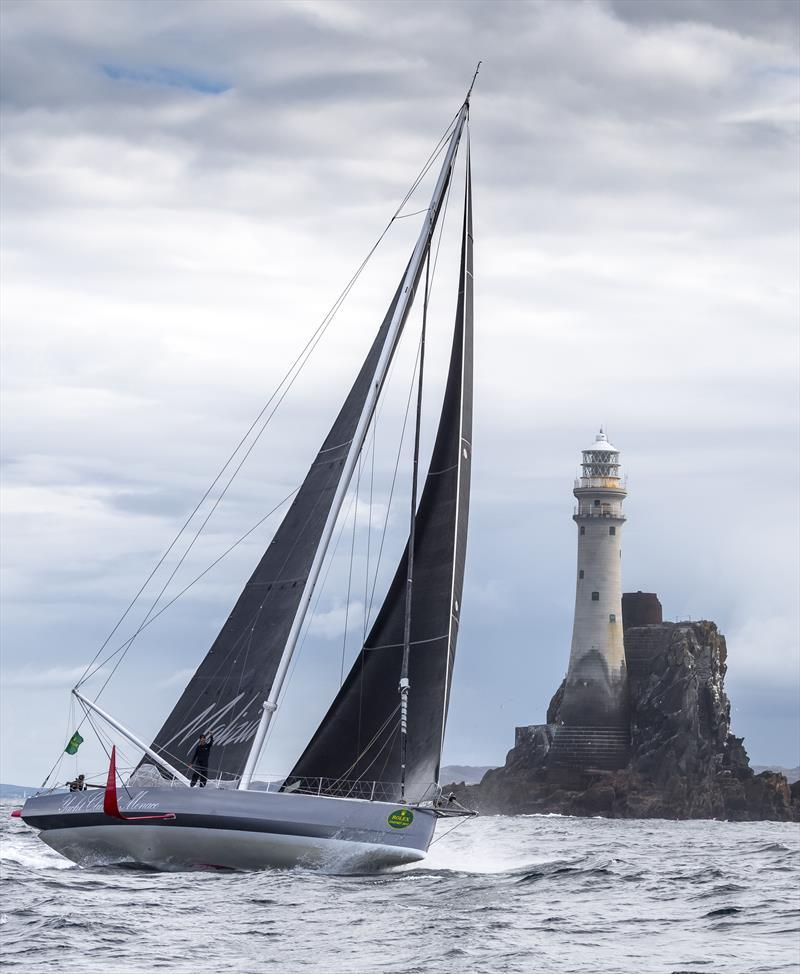 IMOCA 60 Malizia - Yacht Club de Monaco rounds the rock in the Rolex Fastnet Race - photo © Rolex / Kurt Arrigo