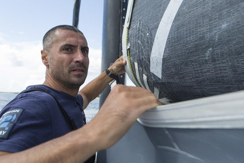 Giancarlo Pedote training before Transat Jacques Vabre photo copyright Jean-Marie Liot taken at  and featuring the Open 60 class