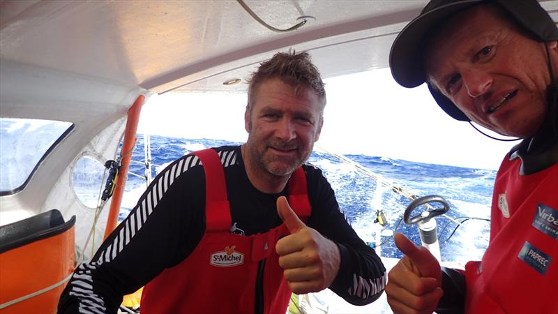 Yann Elies and Jean-Pierre Dick on St Michel - Virbac during the Transat Jacques Vabre 2017 - photo © Jean-Pierre Dick