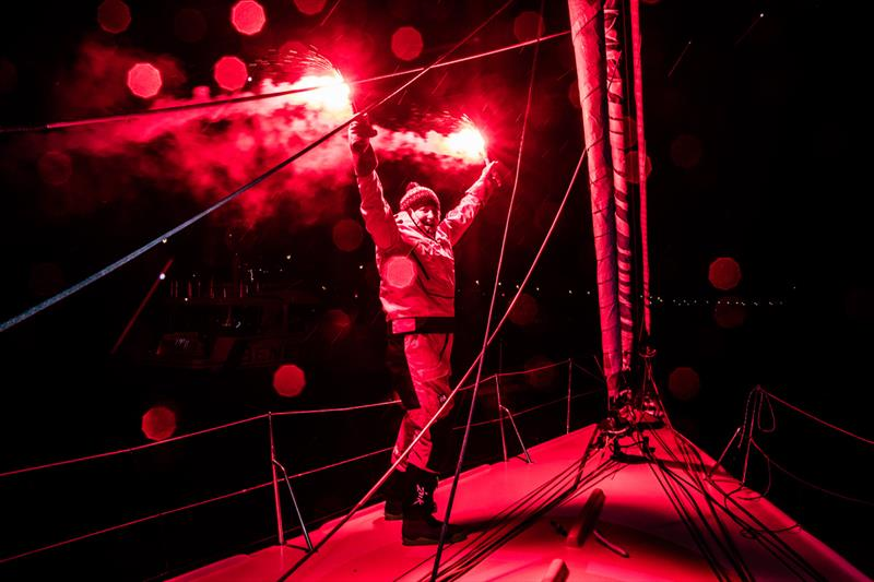 Pip Hare on Medallia finishes the Vendée Globe 2020-21 in Les Sables d'Olonne - photo © Richard Langdon / Ocean Images
