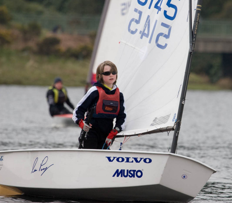Ben Haynes during the Derbyshire Youth Sailing event at Errwood