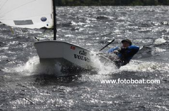 Alasdair Ireland during the Brown Cup at Loch Earn