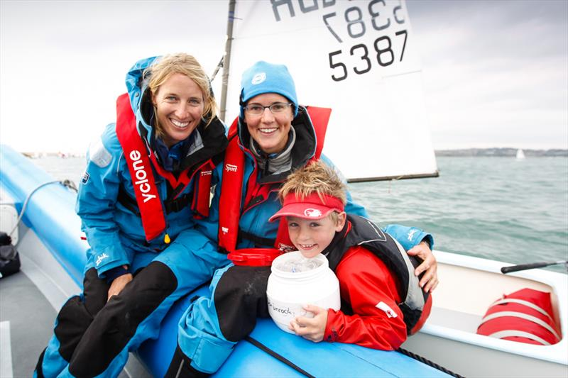 Saskia Clark and Alison Young at the RYA Zone Championships - photo © Paul Wyeth / RYA