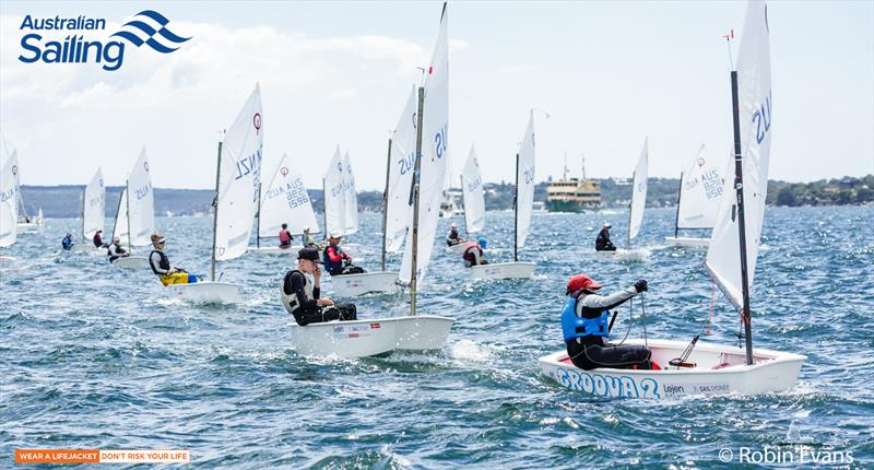 Optimist fleets started today at Sail Sydney - photo © Robin Evans