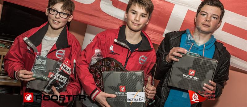 Winners in the Rooster Optimist Southern Traveller & Winter Open at Burghfield - photo © Alex Irwin / www.sportography.tv
