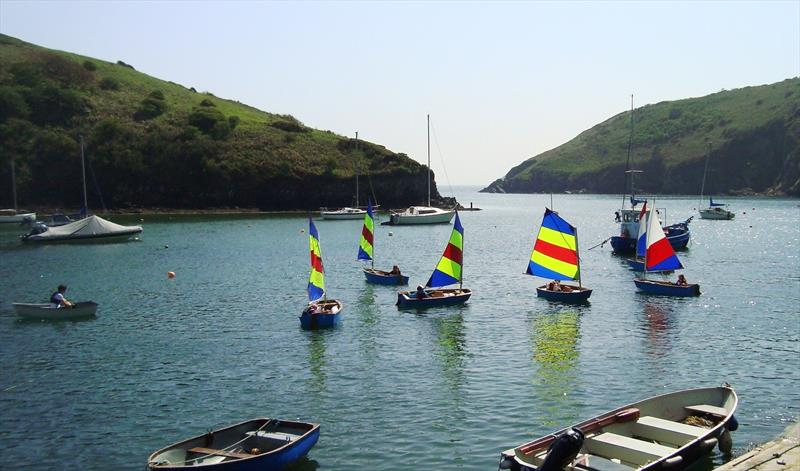 Kids sailing at Solva Sailing Club photo copyright SSC taken at Solva Sailing Club and featuring the Optimist class