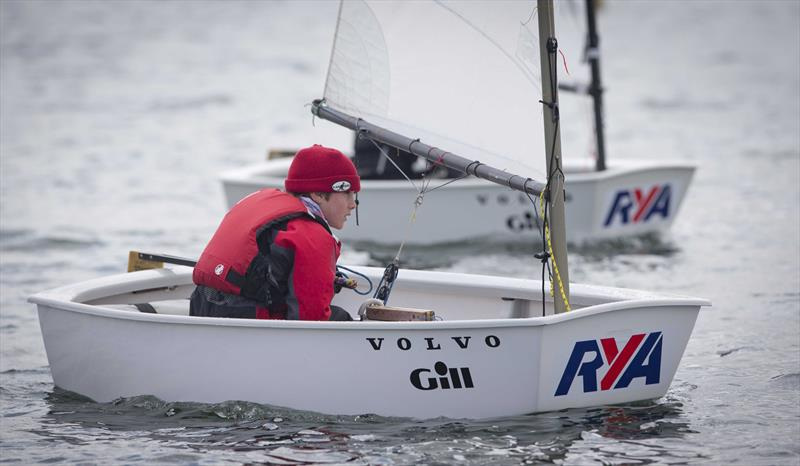 Optimist sailor Henry Means on day 2 of the RYA Eric Twiname Championships - photo © Dan Towers / onEdition / RYA