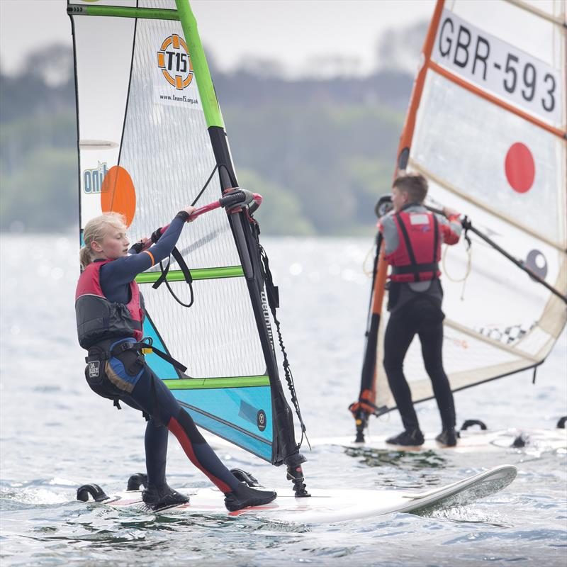 Techno sailor Caitlin Boothroyd on day 2 of the RYA Eric Twiname Championships - photo © Dan Towers / onEdition / RYA