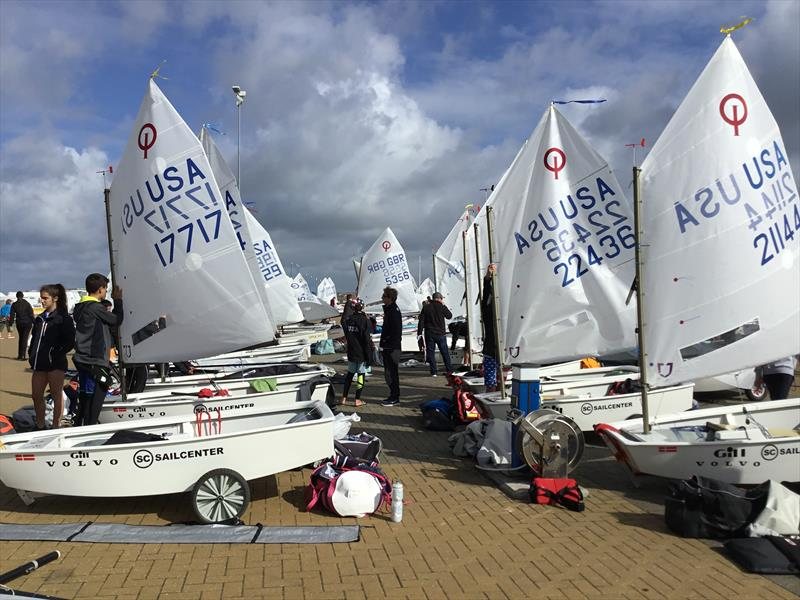 The boat part at the 2017 Volvo Gill Optimist British National and Open Championships photo copyright Paula Irish taken at Weymouth & Portland Sailing Academy and featuring the Optimist class