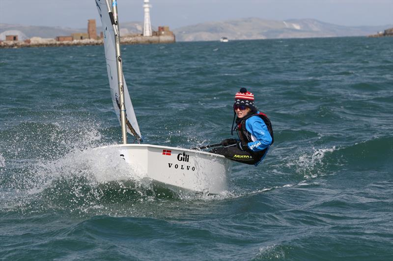 Junior fleet winner Freddie Parkin (USA) during the 2017 Volvo Gill Optimist British National and Open Championships - photo © Peter Newton Photography
